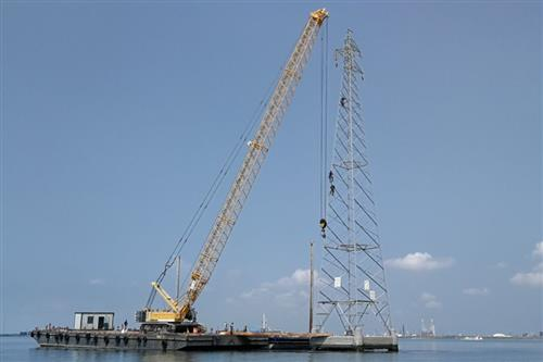 Removal of conductors and pylons in the Venice Lagoon